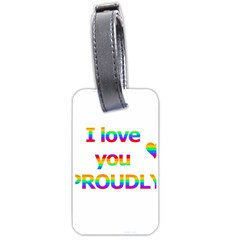 Proudly Love Luggage Tags (two Sides) by Valentinaart