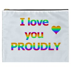 Proudly Love Cosmetic Bag (xxxl)