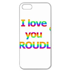 Proudly Love Apple Seamless Iphone 5 Case (clear) by Valentinaart