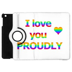 Proudly Love Apple Ipad Mini Flip 360 Case by Valentinaart
