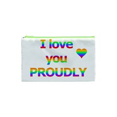 Proudly Love Cosmetic Bag (xs) by Valentinaart