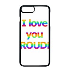 Proudly Love Apple Iphone 7 Plus Seamless Case (black) by Valentinaart