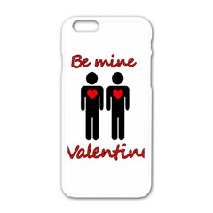 Be Mine Valentine Apple Iphone 6/6s White Enamel Case by Valentinaart