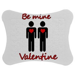 Be Mine Valentine Jigsaw Puzzle Photo Stand (bow) by Valentinaart