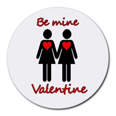 Be My Valentine 2 Round Mousepads by Valentinaart