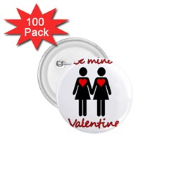 Be My Valentine 2 1 75  Buttons (100 Pack)