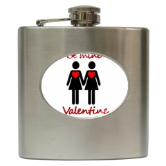 Be My Valentine 2 Hip Flask (6 Oz) by Valentinaart