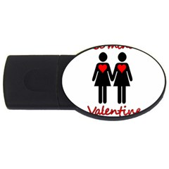 Be My Valentine 2 Usb Flash Drive Oval (2 Gb)  by Valentinaart