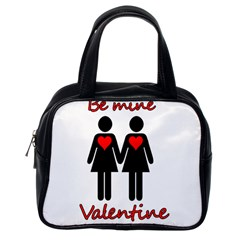 Be My Valentine 2 Classic Handbags (one Side) by Valentinaart