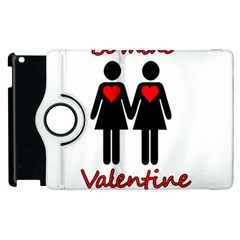 Be My Valentine 2 Apple Ipad 2 Flip 360 Case by Valentinaart