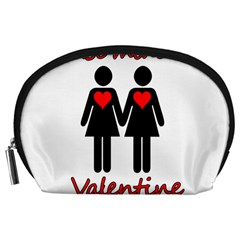 Be My Valentine 2 Accessory Pouches (large)  by Valentinaart