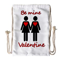 Be My Valentine 2 Drawstring Bag (large) by Valentinaart