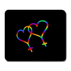 Love Is Love Large Mousepads by Valentinaart