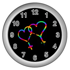 Love Is Love Wall Clocks (silver)  by Valentinaart
