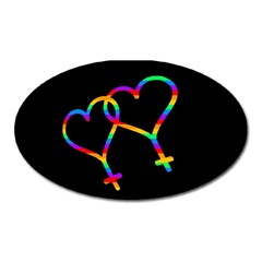 Love Is Love Oval Magnet by Valentinaart