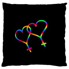 Love Is Love Large Flano Cushion Case (one Side) by Valentinaart
