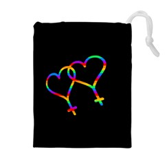 Love Is Love Drawstring Pouches (extra Large) by Valentinaart