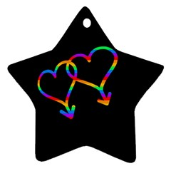 Love Is Love Star Ornament (two Sides)  by Valentinaart