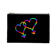 Love Is Love Cosmetic Bag (large)  by Valentinaart