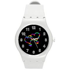 Love Is Love Round Plastic Sport Watch (m)