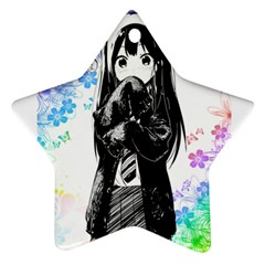 Shy Anime Girl Ornament (star)  by Brittlevirginclothing