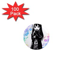Shy Anime Girl 1  Mini Magnets (100 Pack)  by Brittlevirginclothing