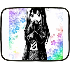 Shy Anime Girl Fleece Blanket (mini) by Brittlevirginclothing