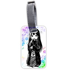 Shy Anime Girl Luggage Tags (two Sides) by Brittlevirginclothing