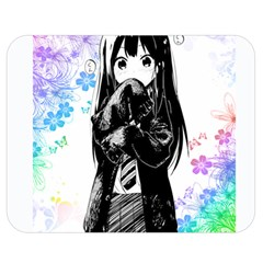 Shy Anime Girl Double Sided Flano Blanket (medium)  by Brittlevirginclothing