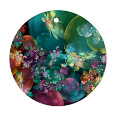 Butterflies, Bubbles, And Flowers Ornament (round)  by WolfepawFractals