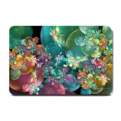 Butterflies, Bubbles, And Flowers Small Doormat  by WolfepawFractals