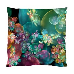 Butterflies, Bubbles, And Flowers Standard Cushion Case (one Side) by WolfepawFractals
