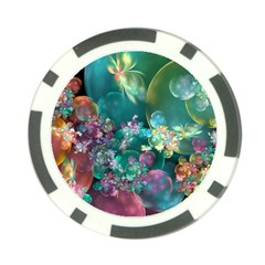 Butterflies, Bubbles, And Flowers Poker Chip Card Guards (10 Pack)