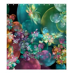 Butterflies, Bubbles, And Flowers Shower Curtain 66  X 72  (large)  by WolfepawFractals