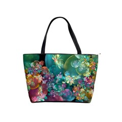 Butterflies, Bubbles, And Flowers Shoulder Handbags