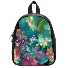 Butterflies, Bubbles, And Flowers School Bags (small)  by WolfepawFractals