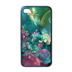 Butterflies, Bubbles, And Flowers Apple Iphone 4 Case (black) by WolfepawFractals