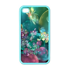 Butterflies, Bubbles, And Flowers Apple Iphone 4 Case (color) by WolfepawFractals