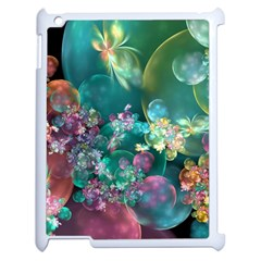 Butterflies, Bubbles, And Flowers Apple Ipad 2 Case (white) by WolfepawFractals