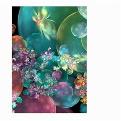 Butterflies, Bubbles, And Flowers Large Garden Flag (two Sides) by WolfepawFractals