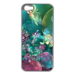 Butterflies, Bubbles, And Flowers Apple Iphone 5 Case (silver) by WolfepawFractals