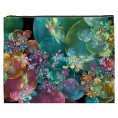 Butterflies, Bubbles, And Flowers Cosmetic Bag (xxxl)  by WolfepawFractals