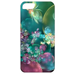 Butterflies, Bubbles, And Flowers Apple Iphone 5 Classic Hardshell Case by WolfepawFractals