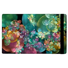 Butterflies, Bubbles, And Flowers Apple Ipad 3/4 Flip Case by WolfepawFractals