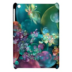 Butterflies, Bubbles, And Flowers Apple Ipad Mini Hardshell Case by WolfepawFractals
