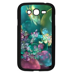 Butterflies, Bubbles, And Flowers Samsung Galaxy Grand Duos I9082 Case (black) by WolfepawFractals