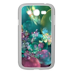 Butterflies, Bubbles, And Flowers Samsung Galaxy Grand Duos I9082 Case (white) by WolfepawFractals
