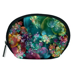 Butterflies, Bubbles, And Flowers Accessory Pouches (medium)  by WolfepawFractals