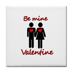 Be Mine Valentine Tile Coasters by Valentinaart