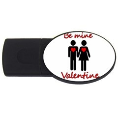 Be Mine Valentine Usb Flash Drive Oval (2 Gb)  by Valentinaart